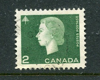 Queen Elizabeth II Stamps From Canada /Bulk Green Stamps/ Used Green Stamps