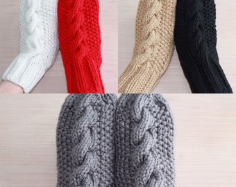 Women's cable knit mittens (in 5 colors)