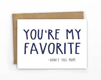 Father's Day Card ~ Don't Tell Mom by Cypress Card Co