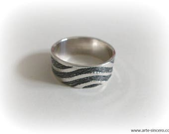 Engraved 925 sterling silver ring