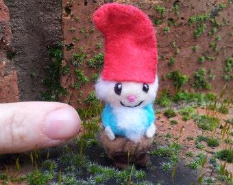 Tiny Gnome - miniature felt fairytale storybook doll collectables gnome doll felt gnomes felted gnome garden gnome felt dolls fairy tale