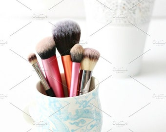 Styled Stock Photo | Makeup Brushes In Cup | Blog stock photo, stock image, stock photography, blog photography
