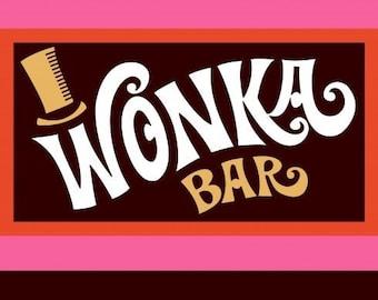 Digital Download Printable Willy Wonka & The Chocolate Factory Wonka Bar Wrapper Blank Back > Gene Wilder > Charlie > Oompa Loompa > Replica