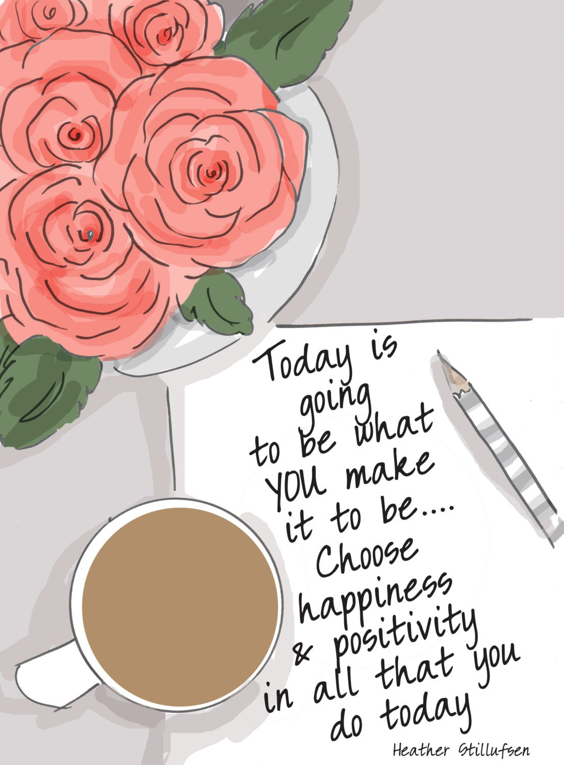 Quote For Today About Happiness Choose Happiness Inspirational Art Quotes Art For