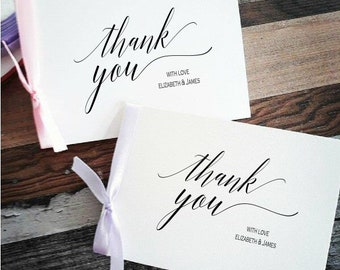 Wedding Thank you Cards - Bulk Listing - Thank you cards - personalised thank you cards. Metallic foiled cards - thank you cards 1