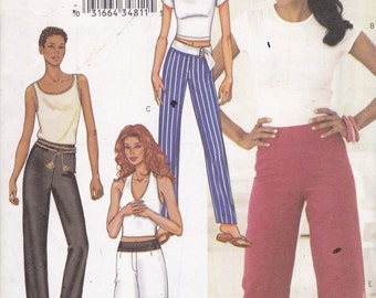 Butterick 3459 Vintage Pattern Womens Pants or Capris in 4 Variations Size 12,14,16 UNCUT