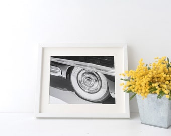 Fathers Day Gift Vintage Car Photo Black and White Photography Car Photography Retro Car Art Wall Art Gift For Dad Car Lover Retro Wall Art