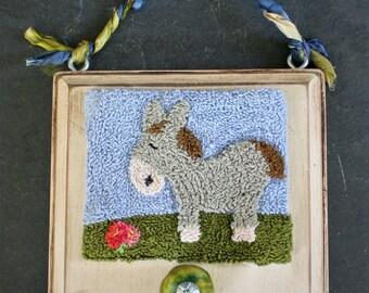 Happy Donkey Punchneedle Embroidery Pattern PDF