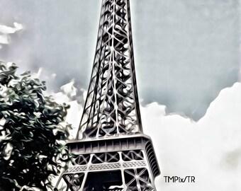 Canvas Art, Eiffel Tower, Paris, France, romance, photo canvas, canvas print, graphic art