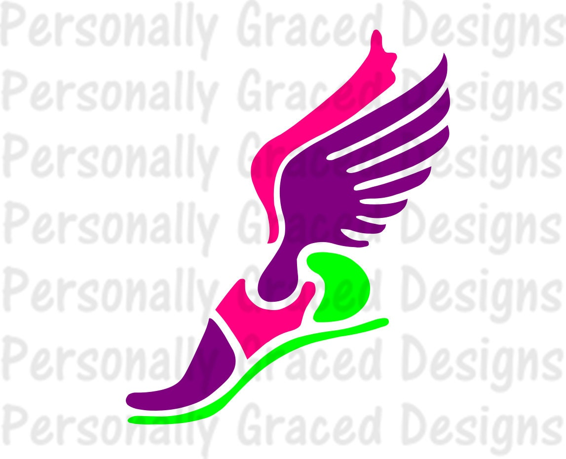 svg dxf eps cut file track shoe svg track svg girl track rh etsy com Track and Field Clip Art Track Shoe with Wings