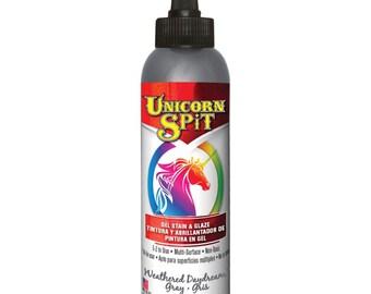 Unicorn Spit Gel Stain and Glaze , 4 oz, Weathered Daydream, mixed media, wood stain, Gel, Wood, Glass