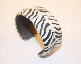 Zebra Print Cuff Bracelet