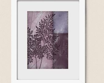 5 x 7 Print, Mauve Decor for Home, Dark Purple Bedroom Wall Art, Plant Wall Art Lavendar Print, Wall Art Print (247)