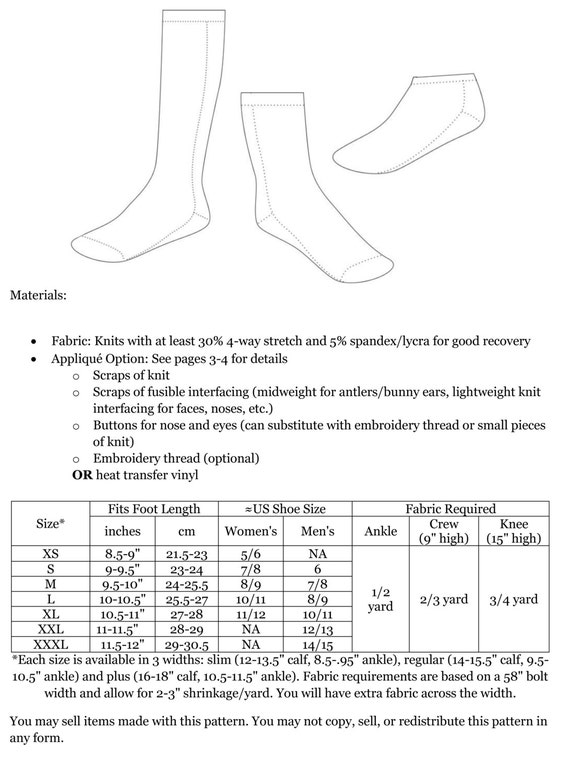 Cozy Toes Socks Sewing Pattern: Adult Socks sewing pattern, Knee ...