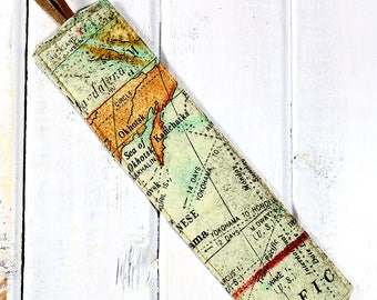 Around the World - Fabric Bookmark