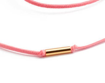 Gold Plated Brass Tube Beads   10 pcs