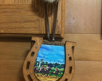 Derby Race Wooden Ornament