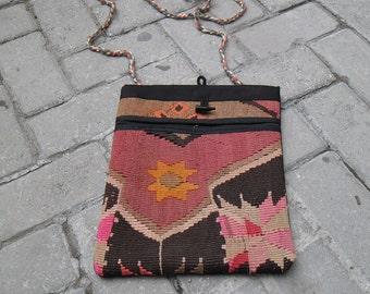 handmade bag, vintage bag, kilim bag ,bag kilim ,turkish bag, shouder bag, turkish bag, handmade bag,kilim bag, cm26x31