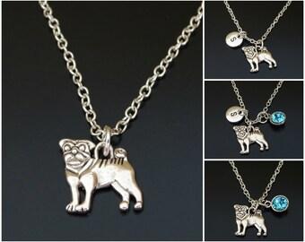 Pug Necklace, Pug Charm, Pug Pendant, Pug Jewelry, Pug Gift for Her, Pug Women, Pug Girl, Pug Mom, Pug Daughter, Pug Sister, Pug Memorial