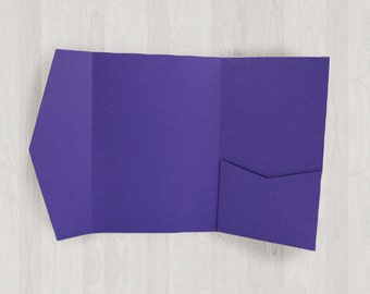 10 Large Vertical Pocket Enclosures - Purple - DIY Invitations - Invitation Enclosures for Weddings and Other Events