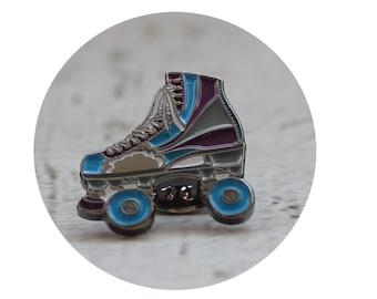 Roller Skate Pin, Enamel Lapel Pin, Soft Enamel, High Top Roller Skate, Beach Roller Skate, Roller Skating Pin Game, Roller Derby Bowl Skate