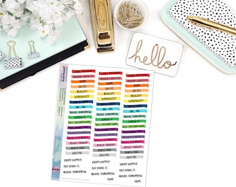 SNARK CANCELED/RESCHEDULED Waved Strip Paper Planner Stickers - Mini Binder Sized/3 Hole Punched