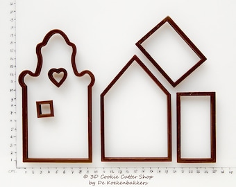 Gingerbread Canal House #1 Cookie Cutter Set