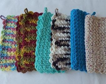 cotton crochet pot holder, cotton hot pad, crochet trivet, crochet hot pad,cotton trivet,pot holder set,square hot pot holders,square trivet