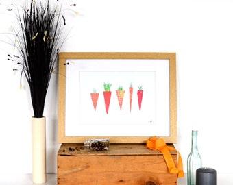 SALE! Carrots Collage Print