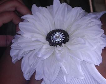 Beautiful White Flower Brooch