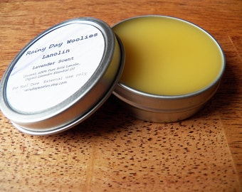 Solid Lanolin for Wool Care - Lavender Scent - 2 Ounces - Lanolin for Wool Diaper Covers / Wool Soakers / Longies / Shorties