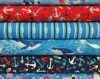 Seaside Treasures Blue Colorway from Robert Kaufman - 6 Fabrics