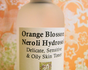 BEST SELLER - Orange Blossom/Neroli Organic Hydrosol | Delicate Skin | Sensitive Skin | Oily Skin | Skin Toner | Body Spray | Calms Stress