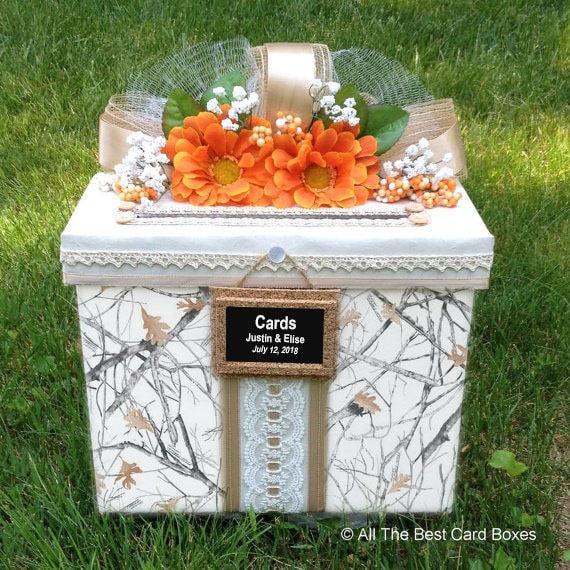 Camo Wedding Decoration Ideas: Camo Weddingwedding Card Boxcard Box With Slotcamo Wedding