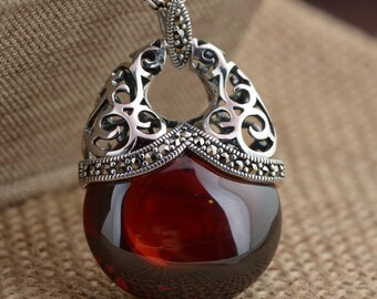 JoyGemstones, 100% Sterling Silver Chalcedony Pendant