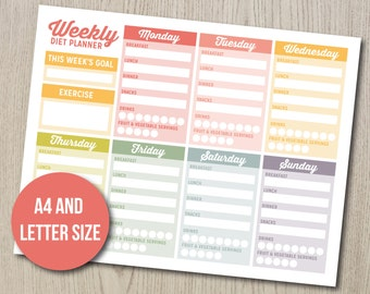 hcg weekly phase 2 food tracker weight loss journal diet