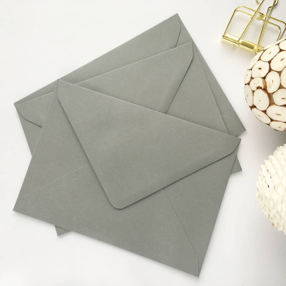 50 5x7 envelopes a7 grey envelopes wedding invitation