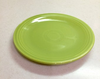 Vintage Original Fiesta Ware Chartreuse Bread Plate Fiestaware Homer Laughlin Ohio Midcentury Pottery