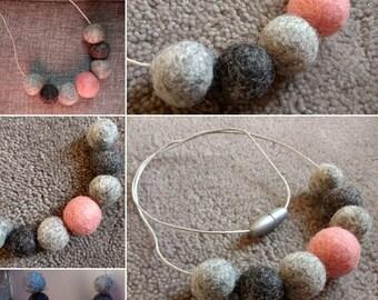 Eloise felt ball necklace