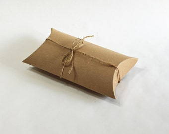 50 3.5x3x1 pillow box pacagking, pillow pack box, usb box, small gift package, rustic wedding, favor boxes, shower favor boxes
