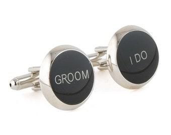 Wedding Novelty Cufflinks - One Pair Printed Set