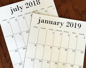This is your year wall calendar 18 month calendar 2018-2019 or 2019 calendar, family fridge calendar with magnet, large 2019 calendar