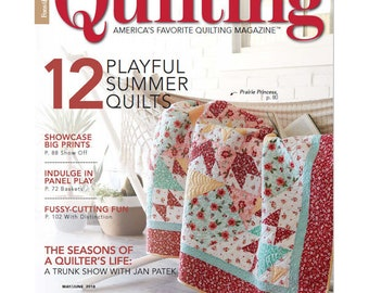 """Prairie Princess by Dodi Lee Poulsen Love of Quilting Magazine May/June 2018 issue Quilt Kit using Sweet Prairie by Sedef Imer 68"""" x 68"""""""