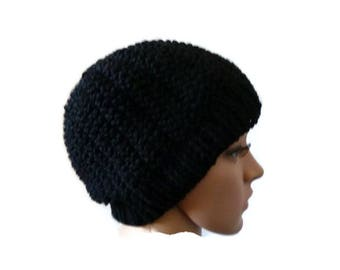 Messy Bun Hat Beanie, Knit Messy Bun Hat, Knit Grey Beanie