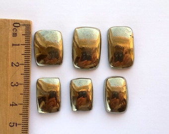 One Pyrite Cabochon Natural Pyrite Cab Fools Gold Apache Gold Pyrite Supply Genuine Stone Cabochons Jewelry Making Supply Loose Pyrite