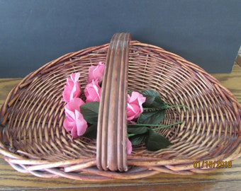 vintage gathering basket or card holder