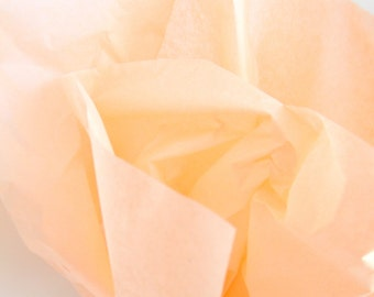 Peach Tissue Paper, 48 Sheets 20 x 30 in. / 50.8 x 76 cm of Gift Tissue, Wedding DIY, Shower Supplies, Party Supplies