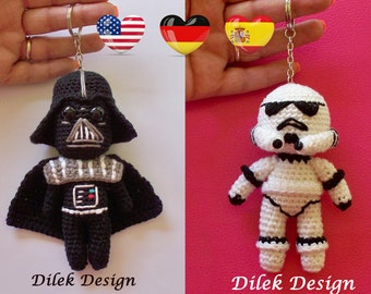 Amigurumi Crochet Pattern - Star Wars - Darth Vader - Stormtrooper - Star Wars Crochet Pattern-Amigurumi Darth Vader- Amigurumi Stormtrooper