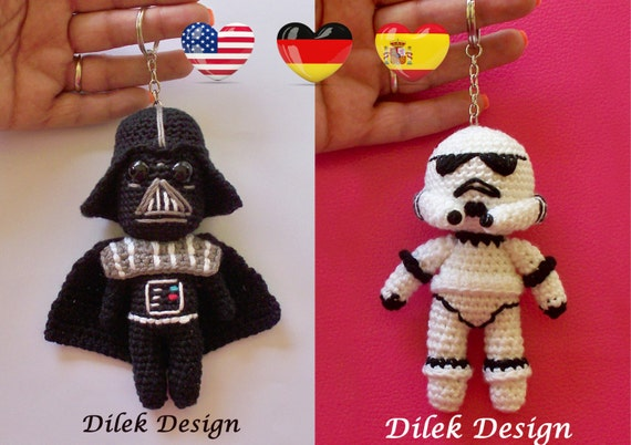 Amigurumi Star Wars Patterns : Amigurumi crochet pattern star wars darth vader stormtrooper