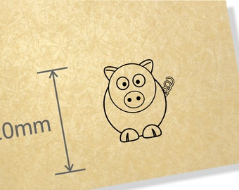 Clear Acrylic Stamp.Pig stamp